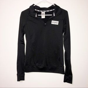 Pink Victoria secret ultimate black quater zip XS